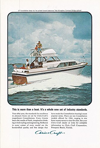 1964 Vintage Ad for Chris Craft |This is More Than a Boat