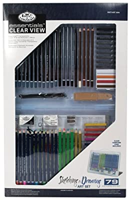 Royal & Langnickel Essentials Clear View Drawing/Sketching Set, Deluxe