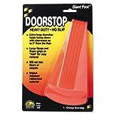 Master Caster 00965 Giant Foot Doorstop, No-Slip Rubber Wedge, 3-1/2w x 6-3/4d x 2h, Safety Orange