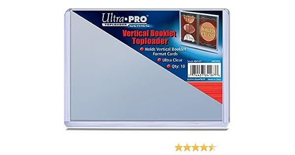 Horizontal Verzamelkaarten, ruilkaarten 1 Pack of 10 BCW Brand Booklet Card Storage Topload Holder Verzamelkaarten: sport