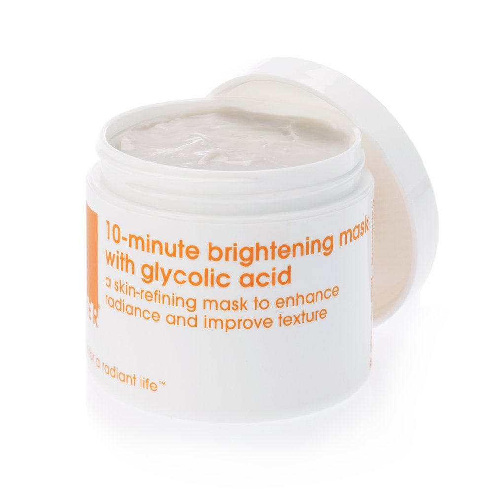 LATHER 10-Minute Brightening Mask with Glycolic Acid 4 oz -Skin-Refining Face Mask