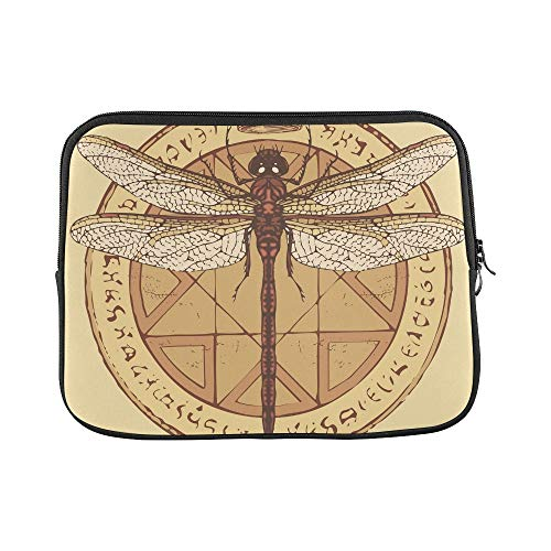 (Design Custom Dragonfly Crown On Circle Octagonal Sleeve Soft Laptop Case Bag Pouch Skin for MacBook Air 11