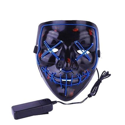PROKTH 1pcs Mascaras de Halloween Mascaras de la purga terror Disfraz la purga mujer Mascara led