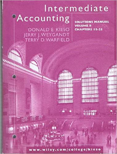 Intermediate Accounting Solutions Manual Volume Ii Chapters