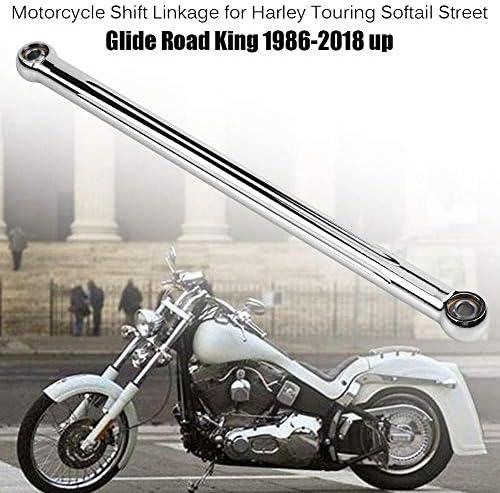 Kapsco Moto NEW Black Skull Motorcycle Chrome Shift Linkage For 1980-2015 Harley Davidson Road Kings