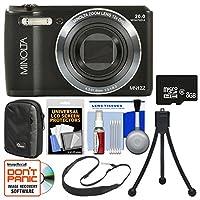 Minolta MN12Z OIS 12x Zoom Wi-Fi Digital Camera with 8GB Card + Case + Flex Tripod + Sling Strap + Kit from Minolta