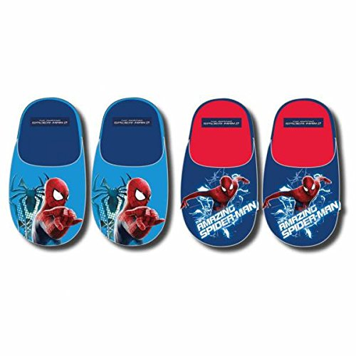 Hausschuhe Gästepantoffel Spiderman blau