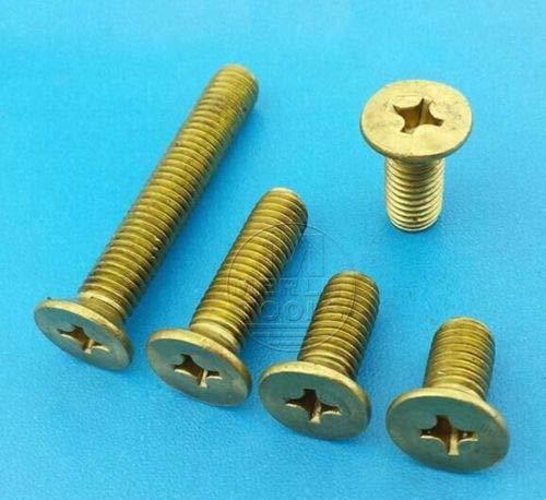 FidgetFidget Bolts Select Size M8 M10 M21 Solid Brass Phillips Flat Head Screws