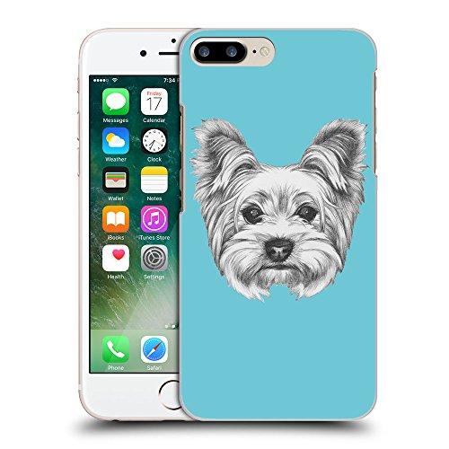 GoGoMobile Coque de Protection TPU Silicone Case pour // Q05120627 Chien dessin Cyan // Apple iPhone 7 PLUS