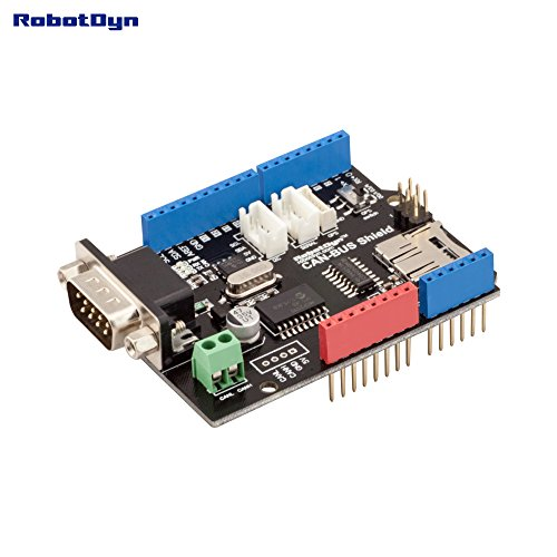 RobotDyn - CAN-BUS Shield  Compatible for Arduino  MCP2515 (CAN-controller)  and MCP2551 (CAN-transceiver) GPS connect  MicroSD-card reader