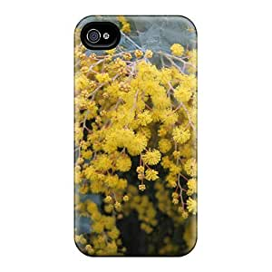 Lzy2094tXEq Tpu Phone Case With Fashionable Look For Iphone 4/4s - Australian Wattle