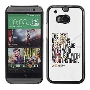 FlareStar Colour Printing Decisions Quote Paper Poster Calm Cool cáscara Funda Case Caso de plástico para HTC One M8