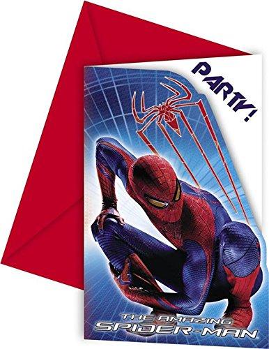 Amazon Com Amazing Spiderman Invites Envelop Pack Of 6 Toys