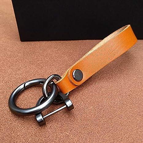 Amazon.com: Llavero de piel de primera calidad, hecho a mano ...