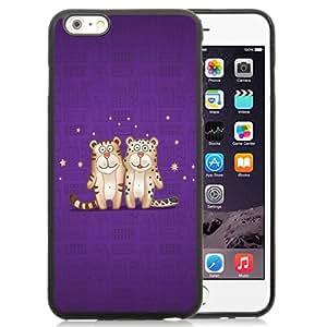 NEW DIY Unique Designed iPhone 6 Plus 5.5 Inch Generation Phone Case For 2 Cute Cartoon Tigers Phone Case Cover