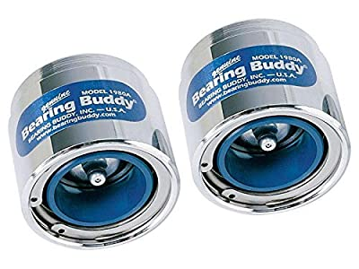 """Bearing Buddy Chrome Bearing Protectors with Auto Check (pair) - 1.980"""" Diameter"""