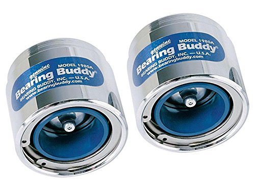 (Bearing Buddy 42202 Chrome Bearing Protector with Level Indicator - 1.980