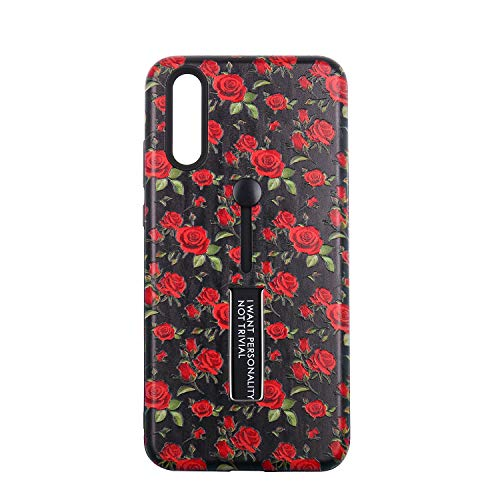 Price comparison product image Case for Huawei P20 / P20 Lite / P20 Pro Hard Cover Case with Belt Swivel Clip Full Protective Flower Printing Shell (P20 Lite, 1)