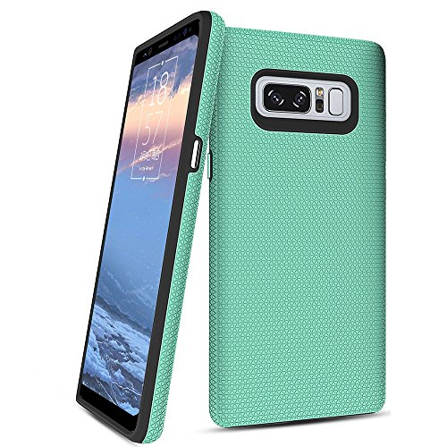 Galaxy Note 8 Case,Singularity Products [Shock Absorbing][Anti Scratch] Heavy Duty Dual Layer Rubber Protective Case Cove Support Wireless Charging for Samsung Galaxy Note 8 - Turquoise