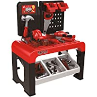 Pretend Play Toys for 3 Year Old Tool Kit DIY Work Bench Station Trolley Drill Shop Pretend Toy Set 46pcs