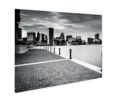 Ashley Giclee Metal Panel Print, Long Exposure Of The Skyline And Waterfront Promenade In Baltimore Maryland, 8x10, - Harborplace & Gallery The
