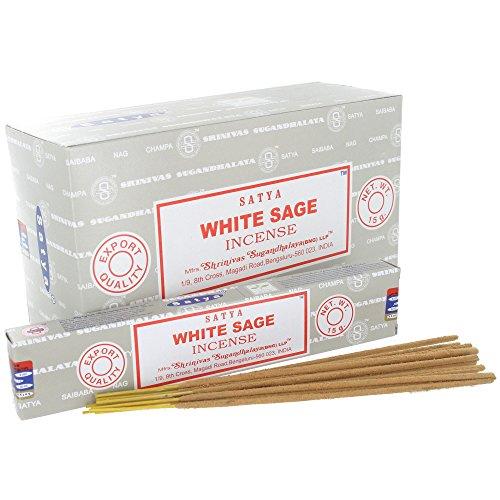 告白する政府海藻Satya White Sage Incense Sticks (Box) 15g X 12 = 180g
