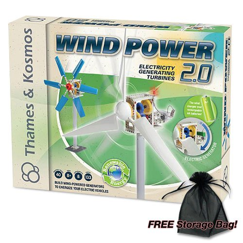 Wind Power 2.0 Kit w/Free Storage (Wind Power Experiment Kit)