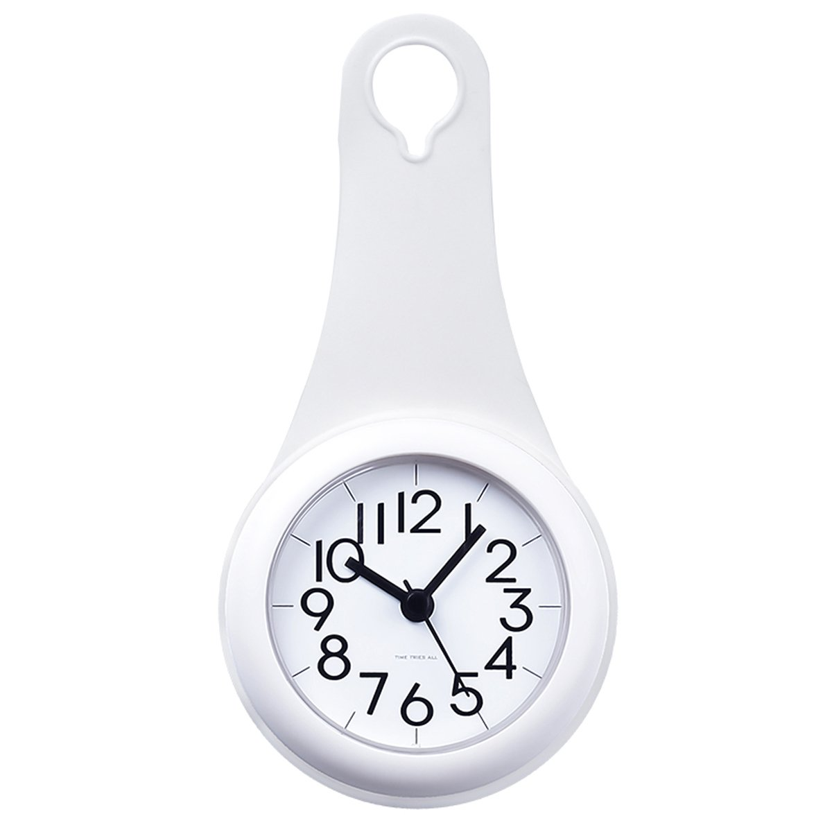 Bathroom Kitchen Hanging Clock With Sucker Hooks Waterproof Silent Movement Shower Clock
