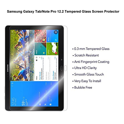 """Samsung Galaxy Note Pro 12.2/"""" Tempered Glass Screen Protector 0.3 mm Thick"""
