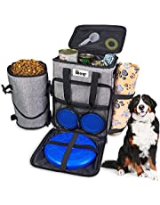 Dog Travel Bag Dog Supply Organizer Backpack Pet Travel Bag with 1* Dog Treat Bag, 2* Collapsible Dog Bowls, 1* Pet Blanket, and 1* Dog Frisbee