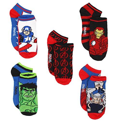 [Marvel Avengers Boys 5 pack Socks (9-11, Hero Multi)] (Avengers Superhero)