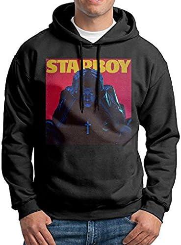 Private Label Mens The Weeknd Starboy Hoodie Sweatshirt Black