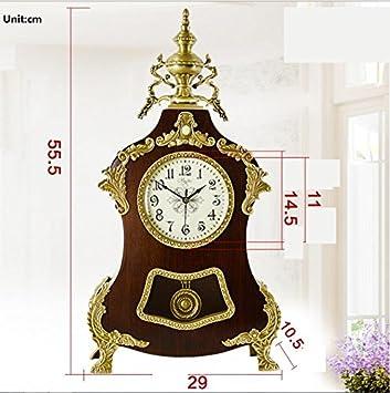Latón europeo mudo reloj/ Reina de relojes modernos/Reloj antiguo mesa moda/ oscilación simple reloj: Amazon.es: Hogar