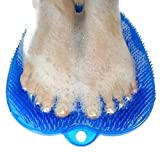 ZenGuru Foot Scrubber Bath Mat - Heel to Toe Feet Cleaner for Shower Floor - Acupressure Massage Mat Cleans, Massages, Invigorates Both Feet at The Same Time - Spa-Quality Experience - Suctions to Tub