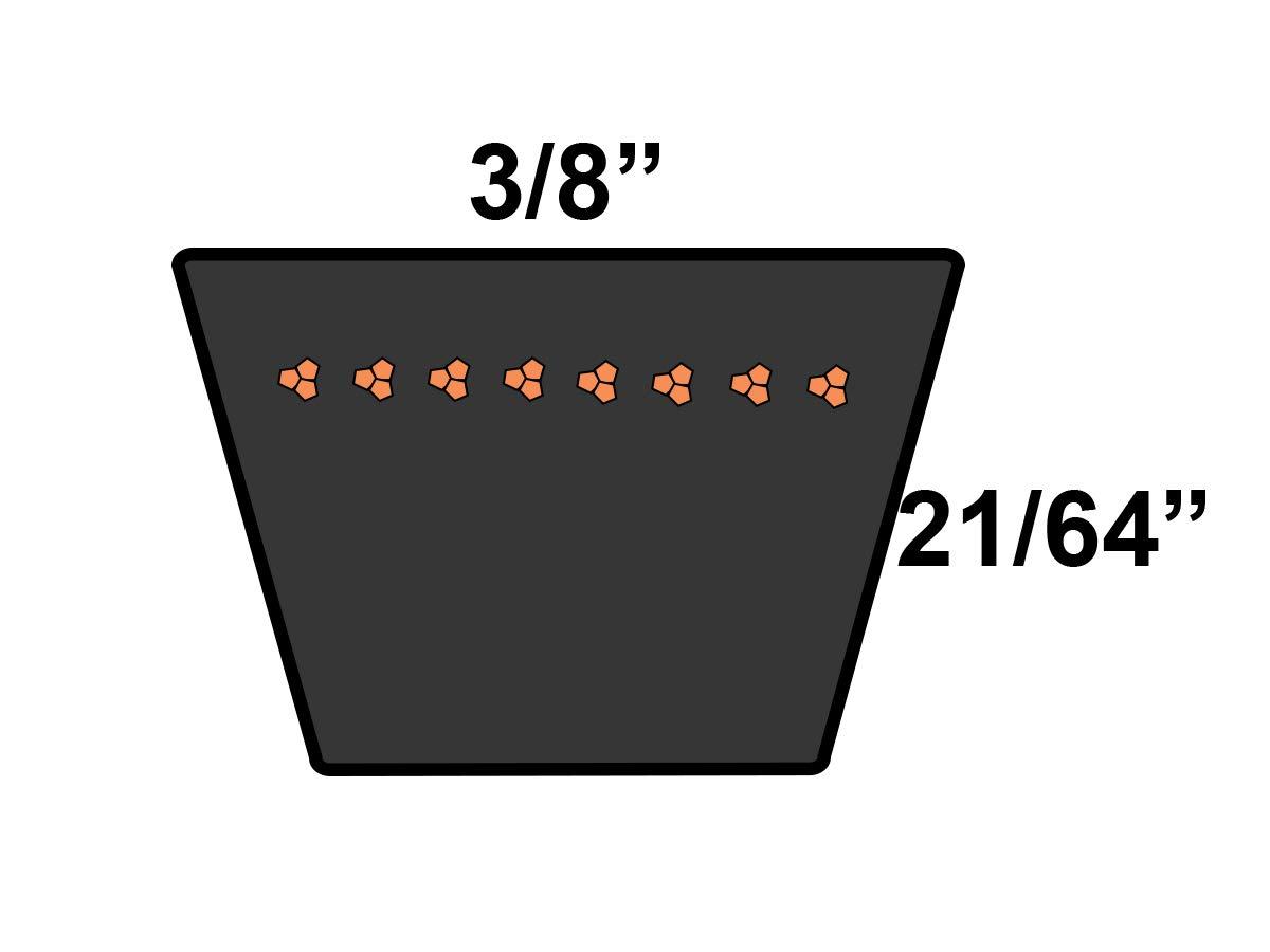 D/&D PowerDrive 3L470 NAPA Automotive Replacement Belt 1 Band Rubber