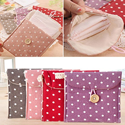 Distinct 2pcs Women Sanitary Towel Napkin Pad Dainty Purse H