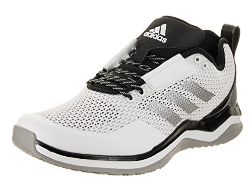 adidas Men's Freak X Carbon Mid Cross Trainer, White/Metallic Silver/Black, (10.5 M (Football Trainers Shoes)