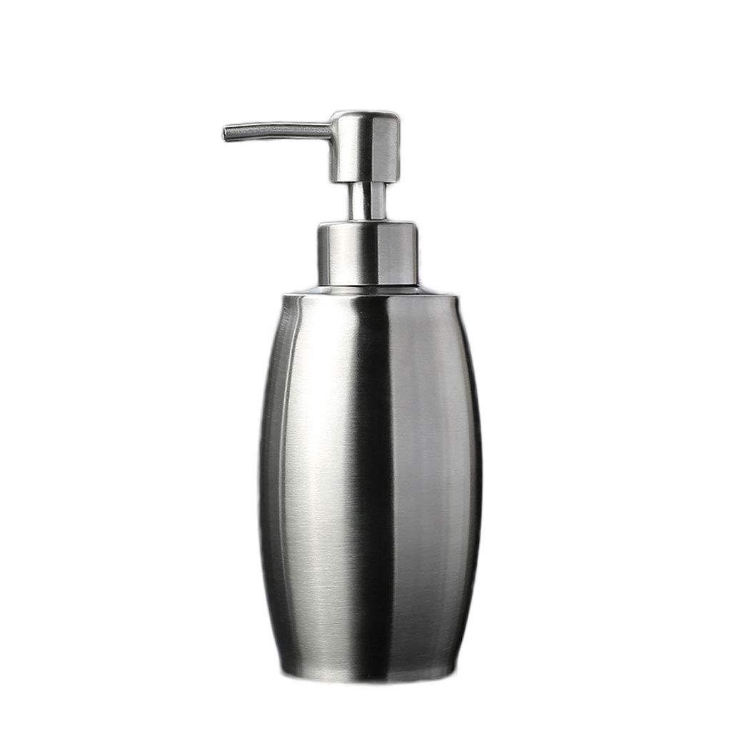 Tian Soap Dispenser 304 Stainless Steel Foaming Bottle Sub-Bottle Portable Pressing Hand Sanitizer Shampoo Washing Shower Gel Empty Bottle Repeatability (Color : Metallic, Size : 500ML)