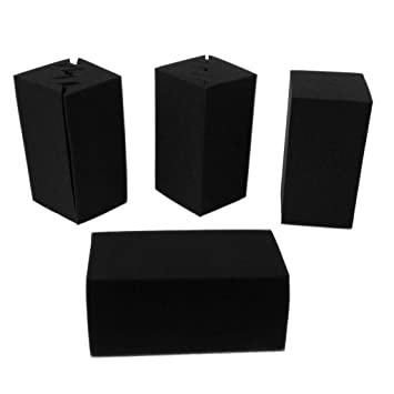 FLAMEER 8 Piezas Paneles de Espuma Acústica a Prueba de Sonido de Color Negro para Amantes de Música Conjunto de Recolección: Amazon.es: Instrumentos ...