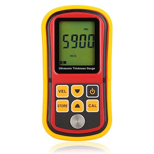 KKmoon GM100 LCD Digital Ultrasonic Thickness Gauge Tester Depth Gauge Sound Velocity Meter Range 1.2 225mm