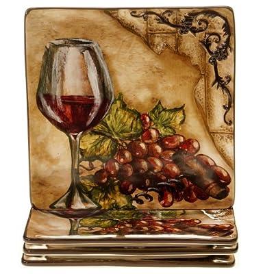 Certified International Tuscan View Salad/Dessert Plate, 8.5-Inch, Set of 4