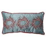 Pillow Perfect Christmas Wreaths Rectangular Throw Pillow