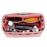 Felt Purse Organizer, Bag in Bag Organizer For Tote & Handbag, Speedy, Neverfull, Medium Large Extra Large (Large, Brush Pink)