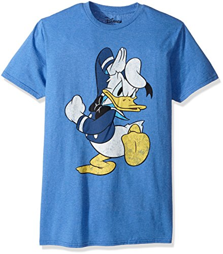 Disney Men's Donald Duck Short-Sleeve Graphic T-Shirt, Royal Snow, Small