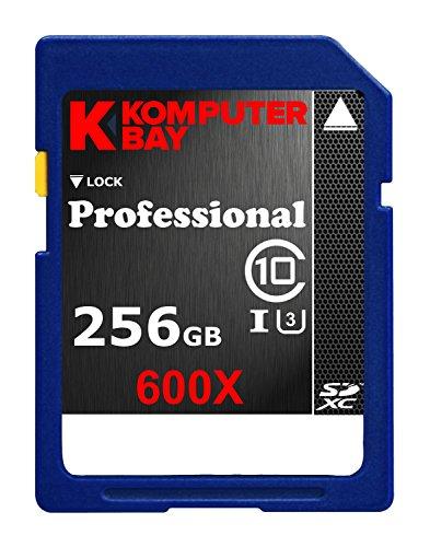 Komputerbay Professional 256 GB High Speed SDXC Class 10 UHS-I, U3 600X Flash Card by KOMPUTERBAY