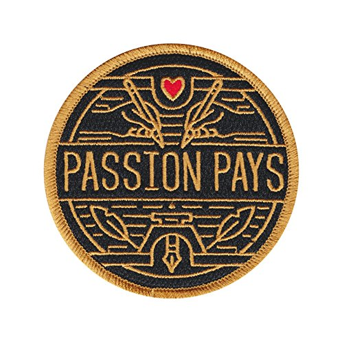 Passion Embroidered Iron Patch Writer