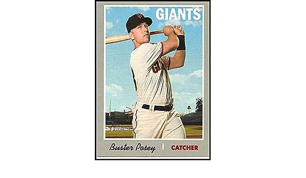 Verzamelingen Verzamelkaarten, ruilkaarten 2019 Topps Heritage #445 Buster Posey SP San Francisco Giants