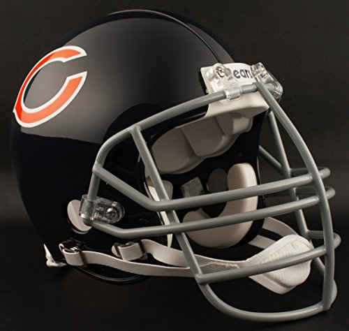 Riddell Chicago Bears 1973-1981 NFL Authentic Throwback Football Helmet w/NJOP Facemask