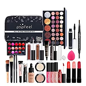 MKNZOME 30 Piezas Juego de Maquillaje, Paquete De Cosmético Todo En Uno con Sombras De Ojos Corrector Brillo De Labios… | DeHippies.com