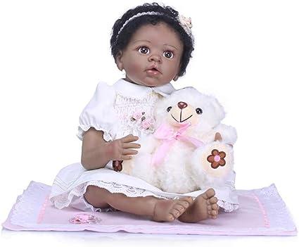 "Life Like Baby Dolls Black 22/"" Biracial Reborn Baby Dolls Girl African American"